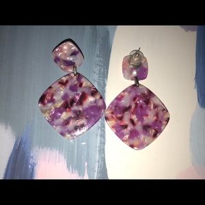 Baublebar pink acrylic earrings!